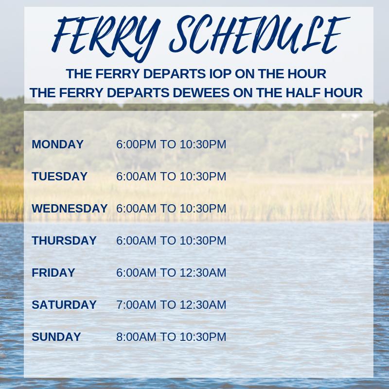 dewees island ferry schedule (1)