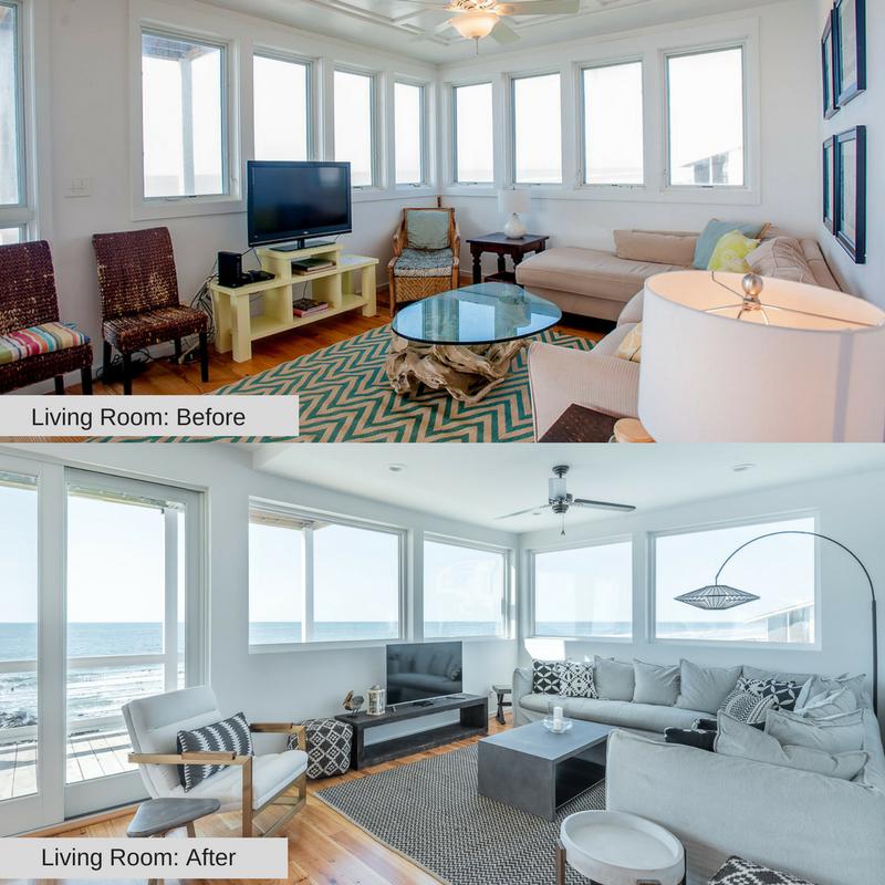 Living Room 1215 E Arctic Folly Beach Charleston Coast Vacations