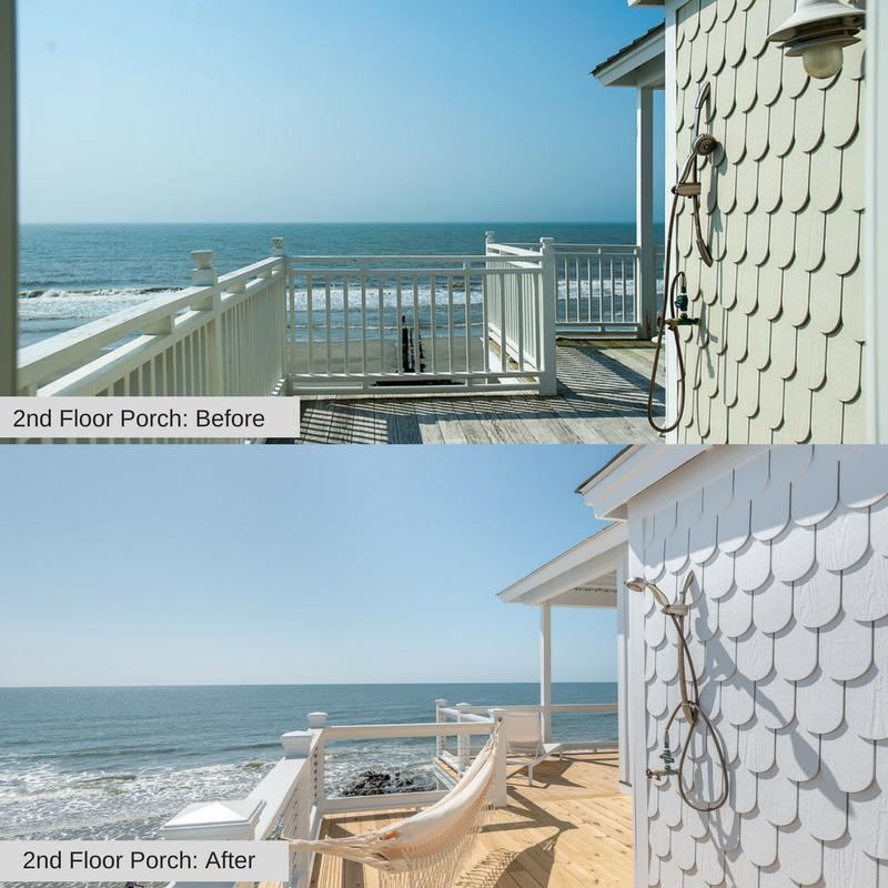 Porch 1215 E Arctic Folly Beach Charleston Coast Vacations