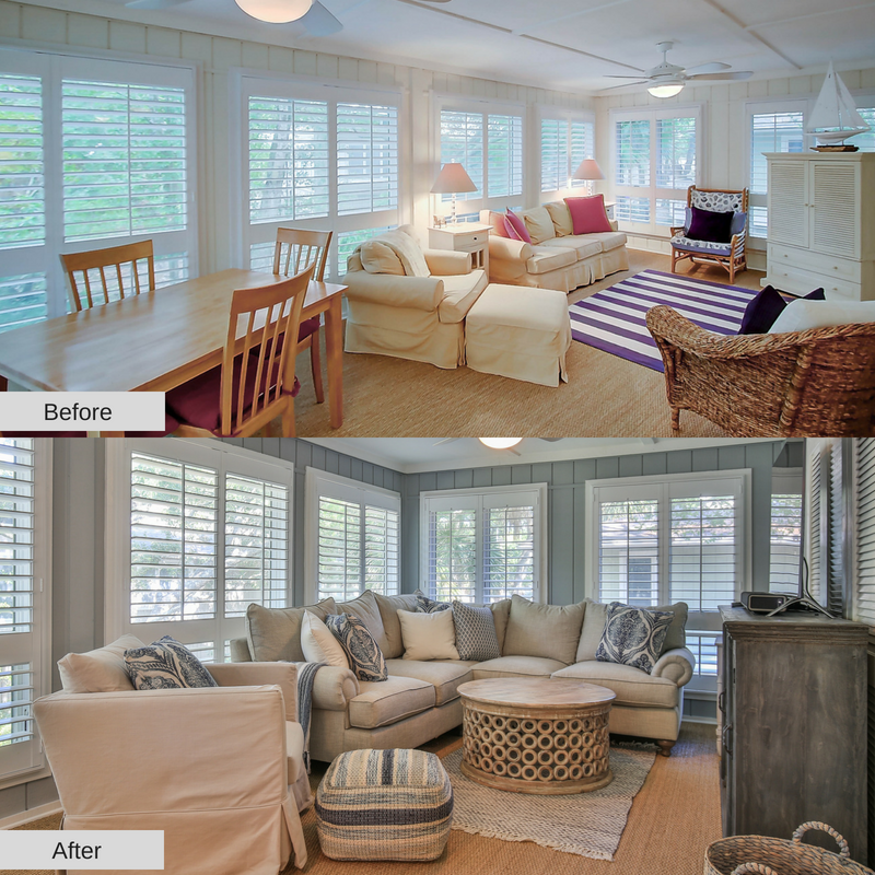 Sunroom, 36 Twin Oaks, Feature Friday, Charleston Coast Vacations