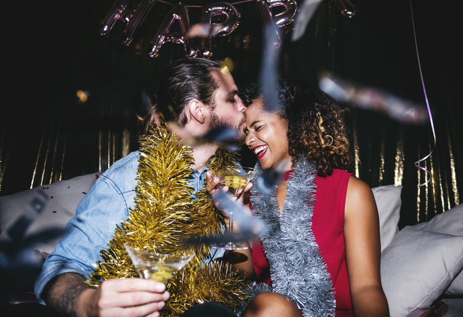 couple celebrating Charleston New Year's Eve