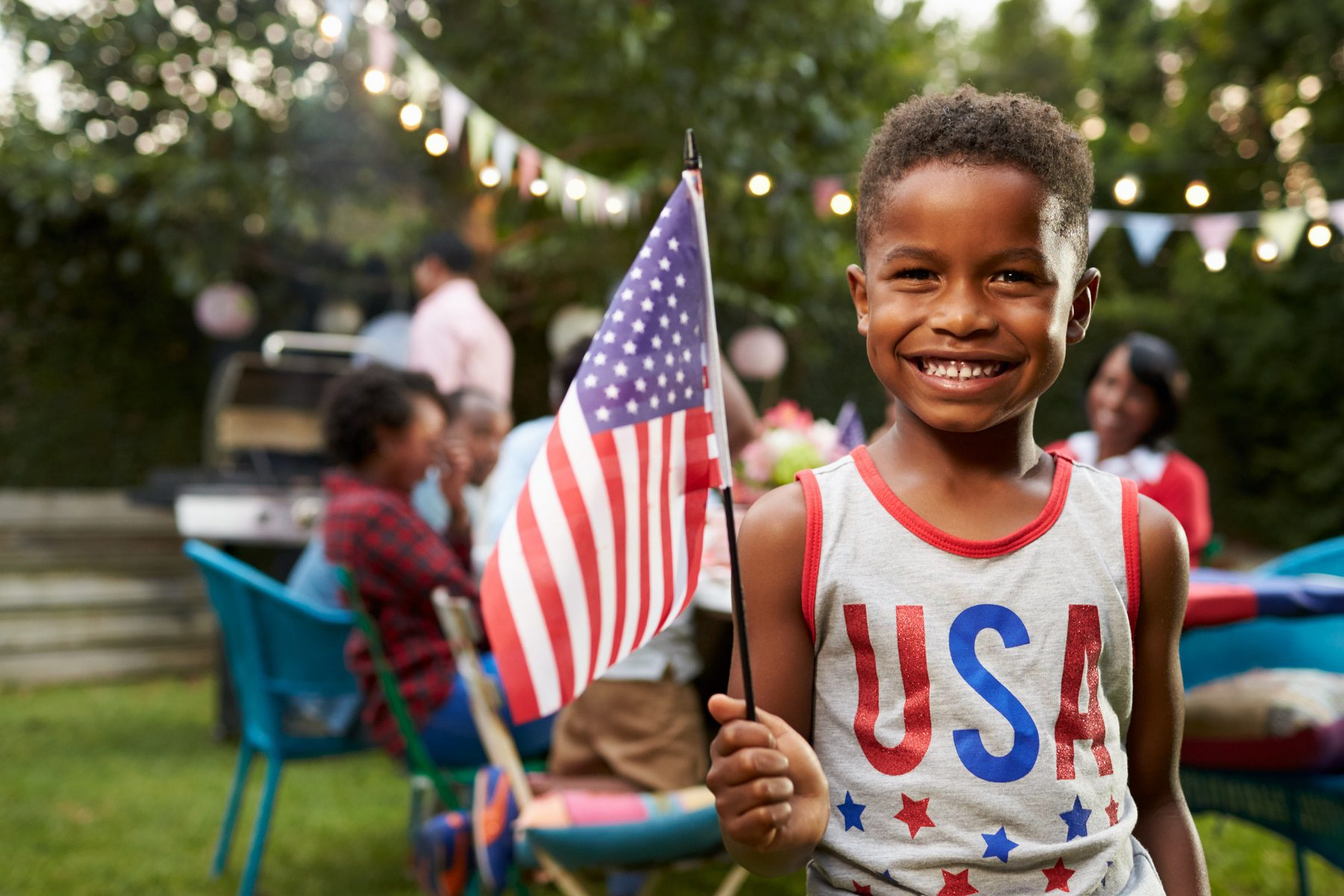 boy enjoying a Charleston Fourth of July